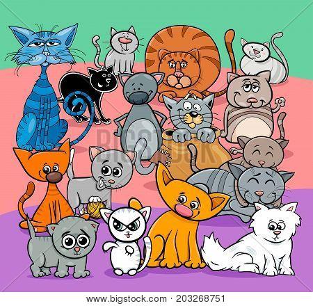 Comics Cats Cartoon Characters Group