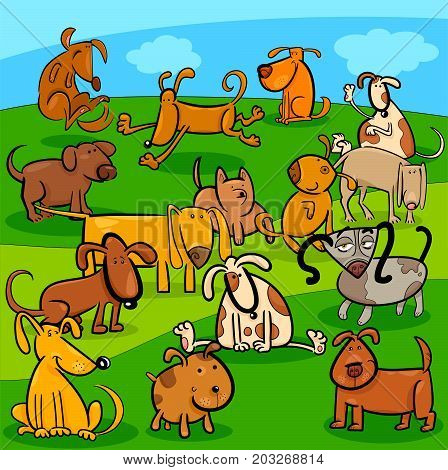 Comics Dogs Cartoon Characters Group