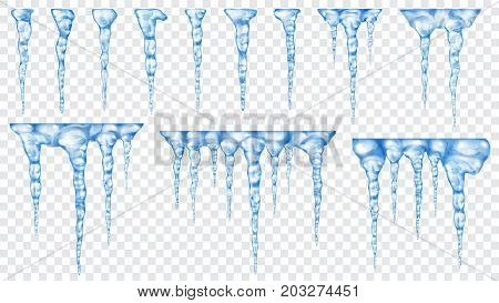 Set Of Translucent Icicles