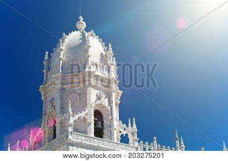 Mosteiro dos Jeronimos (Hieronymites Monastery) located in the Belem district of Lisbon