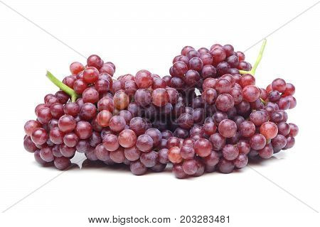 A big bunch of purple seedless grapes isolated