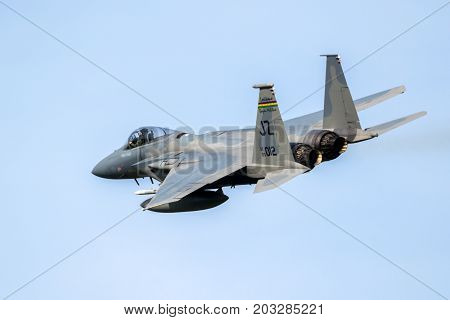 F15 Fighter Jet Aircraft In Flight