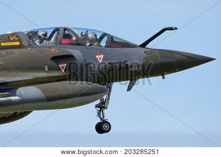 France Airforce Mirage 2000 Fighter Jet Plane Cockpit