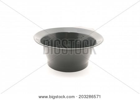 Bowl with a brush, for hair dye. Isolated on white background