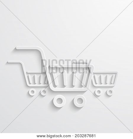 Vector modern shopping icons light background. Store banner