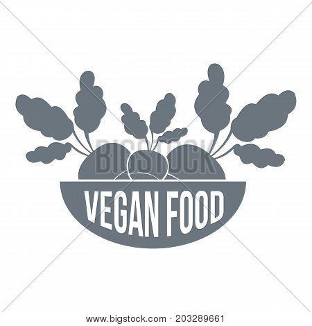 Vegan food logo. Simple illustration of vegan food vector logo for web design isolated on white background