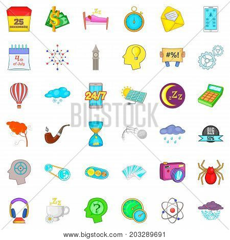 Hourglass icons set. Cartoon style of 36 hourglass vector icons for web isolated on white background
