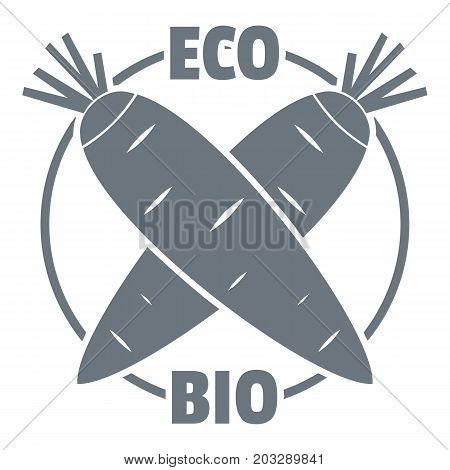Eco bio vegetables logo. Simple illustration of eco bio vegetables vector logo for web design isolated on white background