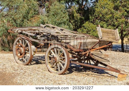 Rusty old cart out of use - Barossa Valley, SA, Australia