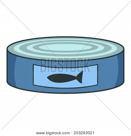 Fish preserves icon. Cartoon illustration of fish preserves vector icon for web