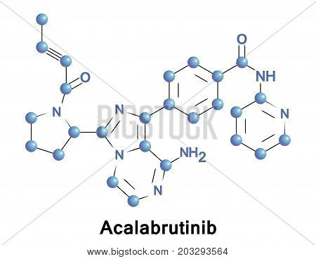 Acalabrutinib is a novel experimental anti-cancer drug and a 2nd generation Bruton tyrosine kinase inhibitor. It is more potent and selective than ibrutinib the first-in-class BTK inhibitor