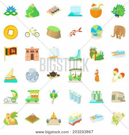 Universe icons set. Cartoon style of 36 universe vector icons for web isolated on white background