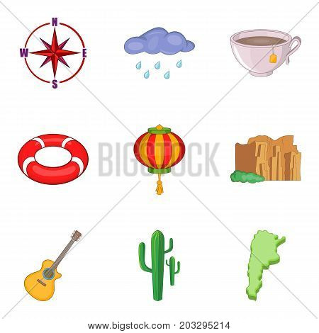 Drought icons set. Cartoon set of 9 drought vector icons for web isolated on white background
