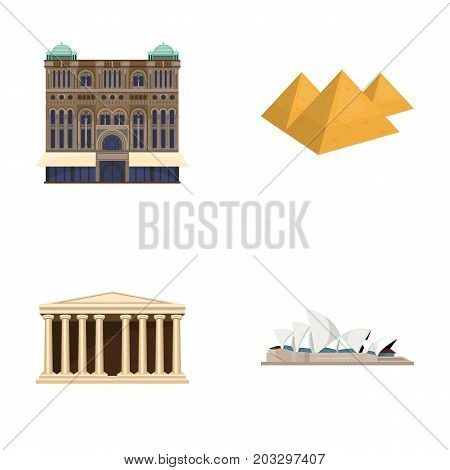 Building, interesting, place, palace .Countries country set collection icons in cartoon style vector symbol stock illustration .