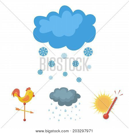 Rain, snow, heat, weathervane. The weather set collection icons in cartoon style vector symbol stock illustration .