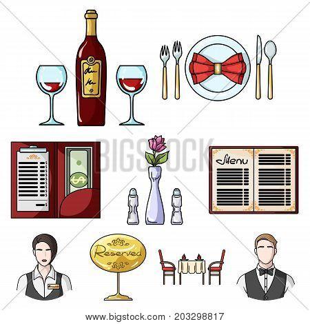 Restaurant set icons in cartoon design. Big collection of restaurant vector symbol stock illustration