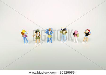 Mini Traveler Mini Figures With Backpack Standing