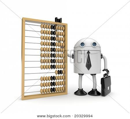 Robot with abacus