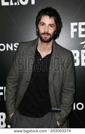 NEW YORK - MAY 23: Jim Sturgess attends the AMC's 'Feed The Beast' premiere on May 23, 2016 in New York City.