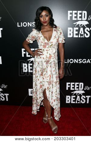 NEW YORK - MAY 23: Christine Adams attends the AMC's 'Feed The Beast' premiere on May 23, 2016 in New York City.