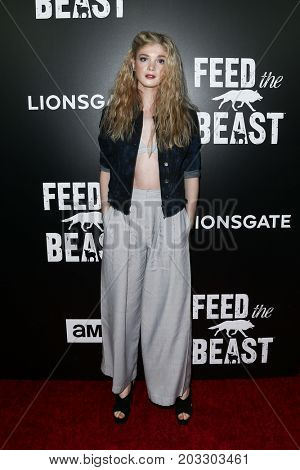 NEW YORK - MAY 23: Elena Kampouris attends the AMC's 'Feed The Beast' premiere on May 23, 2016 in New York City.
