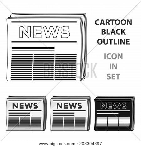 Newspaper.Mail and postman single icon in cartoon style vector symbol stock illustration .