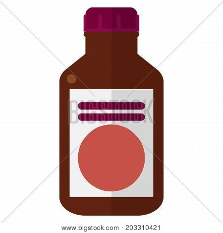 Bottle with antibacterial ointment vector illustration. Flat style design. Colorful graphics