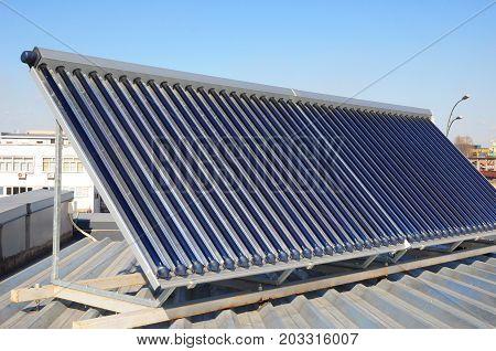 Solar heater for green energy. Solar energy