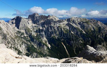 Alpine landscape in the Triglav National Park, Julian Alps, Slovenia, Europe