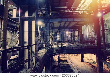 Old Creepy, Dark, Decaying, Destructive, Dirty Factory