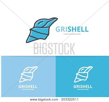 Vector of mollusk and shell logo design template.