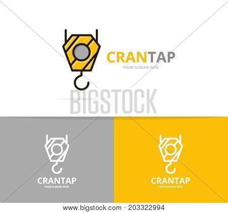 Vector of crane hook logo design template.