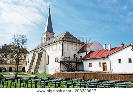 Calvinist church in Kosice Slovak republic. Religious architecture. Travel destination.