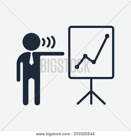 Presentation Black Icon