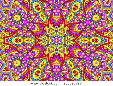 Background with abstract bright colorful concentric pattern