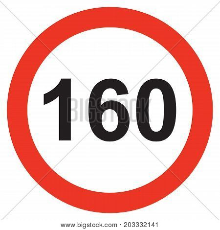 160 speed limitation road sign danger design drive enforce equipment