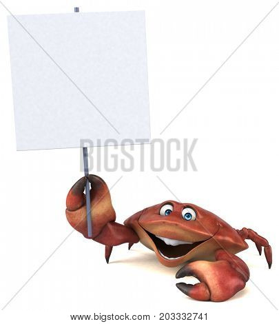 Fun crab - 3D Illustration