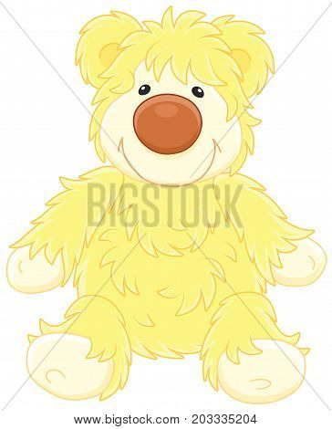 Vector illustration of a funny toy bear cub