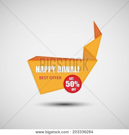 Happy Diwali Abstract Sale Banner