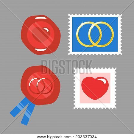 Stamp and Sealing wax for wedding invitation.