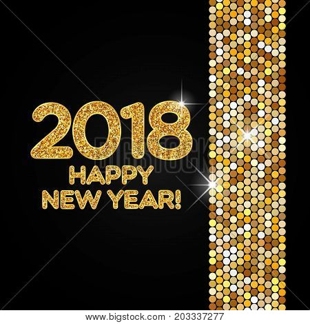 Happy New Year 2018 Golden Shimmer Background