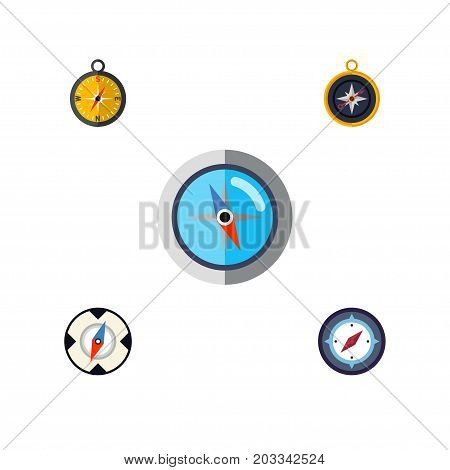 Flat Icon Direction Set Of Geography, Magnet Navigator, Navigation And Other Vector Objects