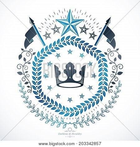 Heraldic sign created using vector vintage elements