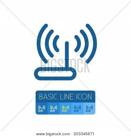 Modem Vector Element Can Be Used For Router, Modem, Wifi Design Concept.  Isolated Router Outline.