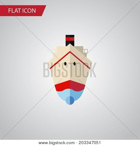Delivery Vector Element Can Be Used For Shipping, Ship, Vessel Design Concept.  Isolated Shipping Flat Icon.