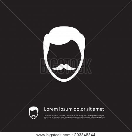 Stylish Beard Vector Element Can Be Used For Goatee, Stylish, Beard Design Concept.  Isolated Goatee Icon.