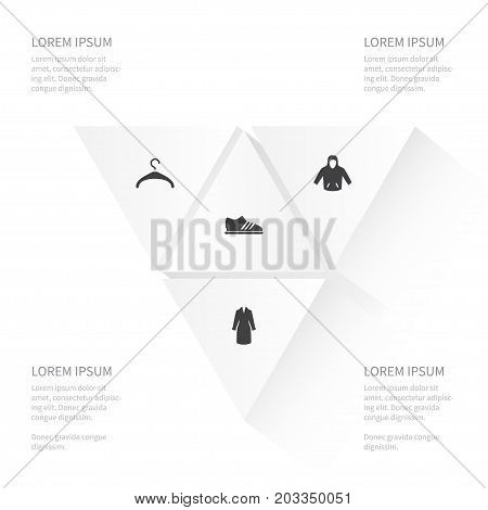 Icon Clothes Set Of Sweatshirt, Showcase, Textile And Other Vector Objects