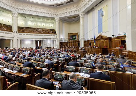 President Of Ukraine Petro Poroshenko In Verkhovna Rada Of Ukraine