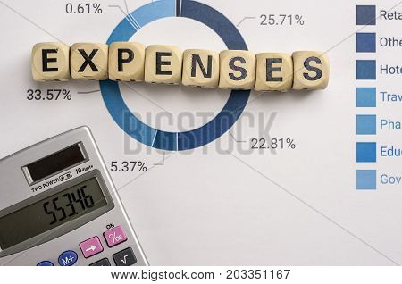 Expenses Concept With Data Analysis And Calculator