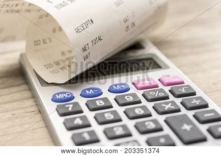 Shopping Receipt And Calculator